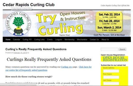 Timing of messages - Cedar Rapids curling