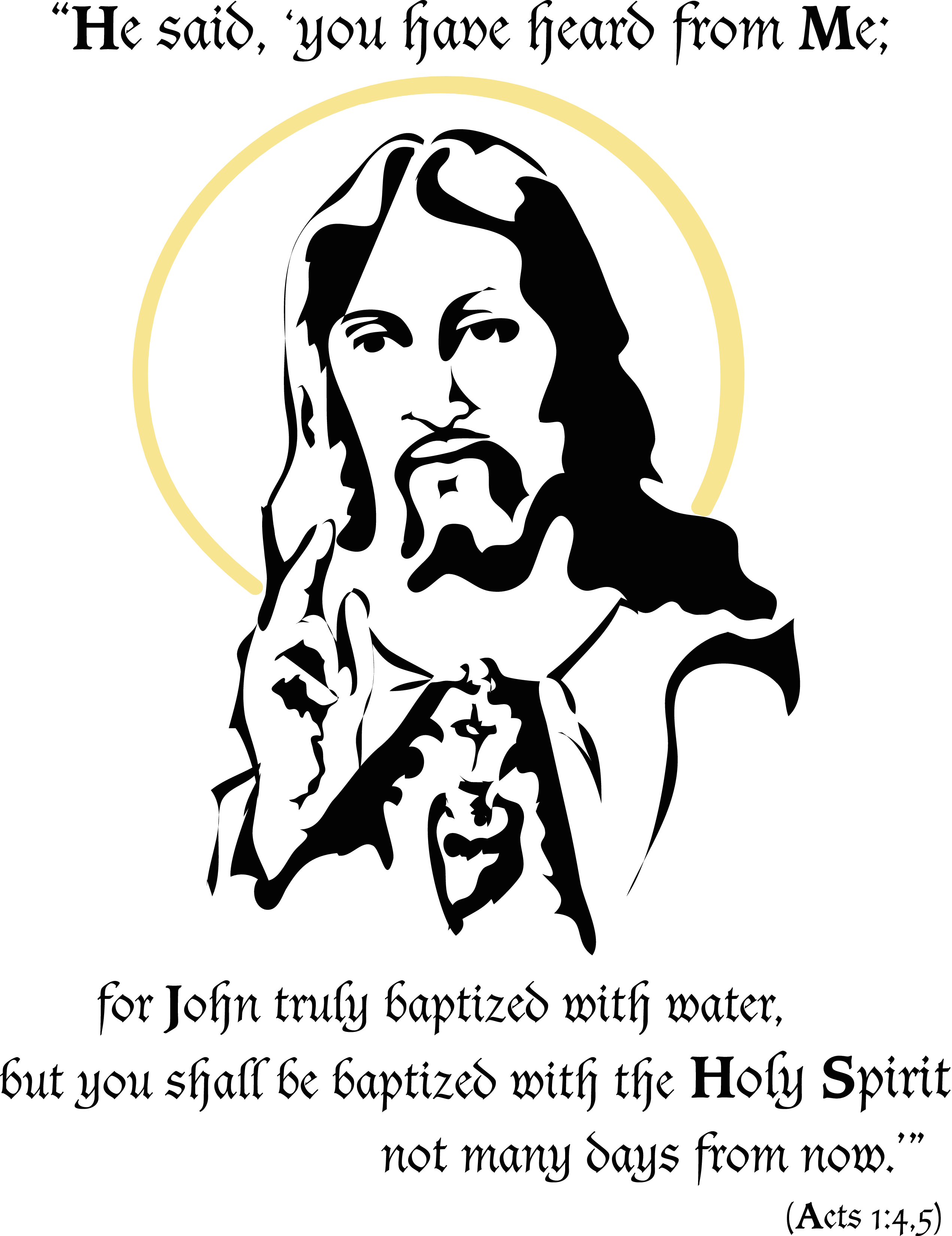 Baptized In The Holy Spirit Clip Art Cliparts