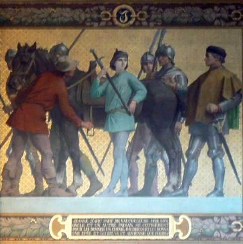 Jeanne d'Arc part de Vaucouleurs