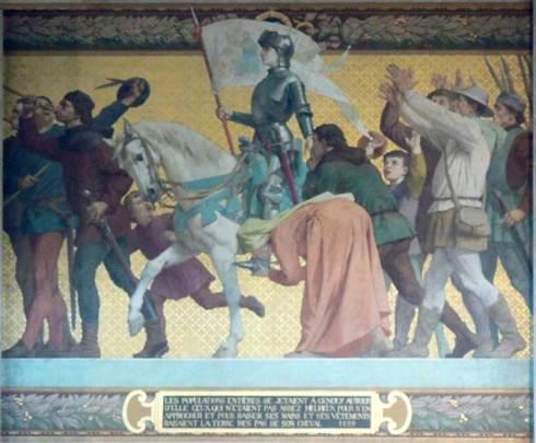 Les populations entières se jetaient à genoux autour de Jeanne d'Arc