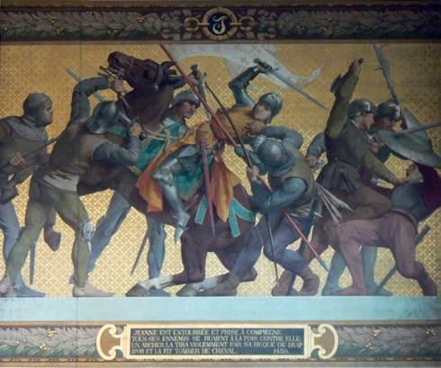 Jeanne d'Arc capturée à Compiegne