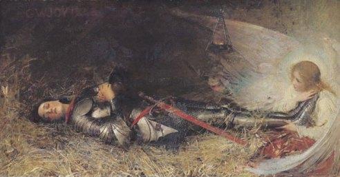 Jeanne d'Arc endormie, par George William JOY, 1895.