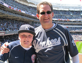 Andrew at Yankee Stadium