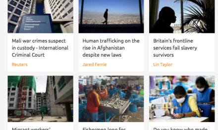 THOMSON REUTERS FOUNDATION – HUMAN TRAFFICKING NEWS