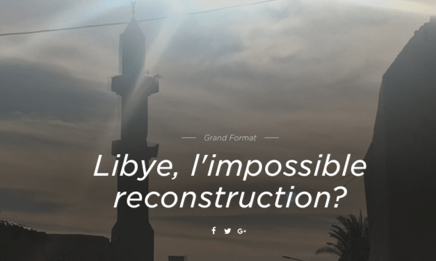 RTS.CH – LYBIE, L'IMPOSSIBLE RECONSTRUCTION ? Maurine Mercier