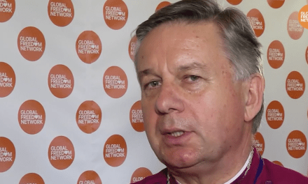 ANGLICAN COMMUNITY – Archbishop Sir David Moxon, Director of the Global Freedom Network against human trafficking