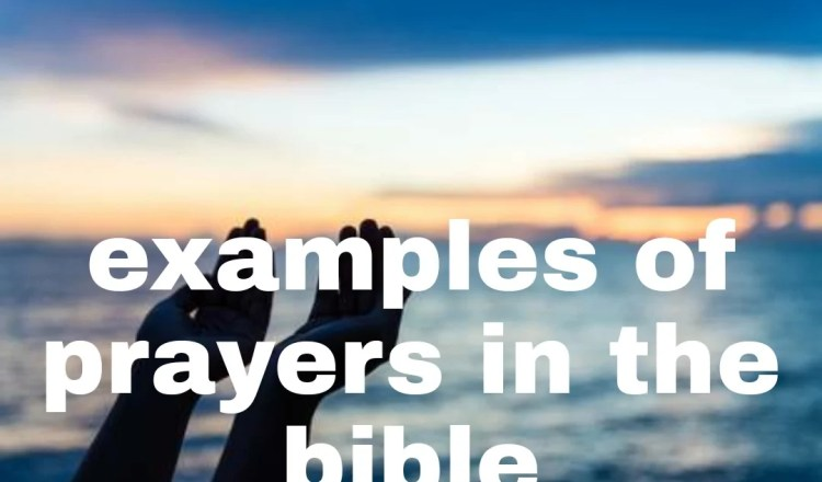 11 EXAMPLES OF PRAYER IN THE BIBLE
