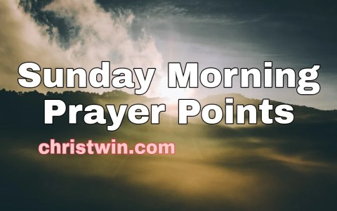Sunday morning prayers
