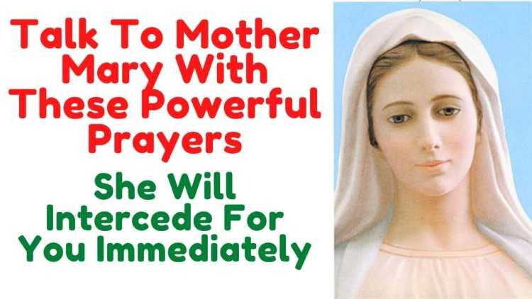 Catholic prayers to Mary