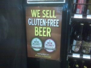 Gluten free beer. It must be a health food, right? Riiiight... Photo credit: Paul Swansen via Flickr.