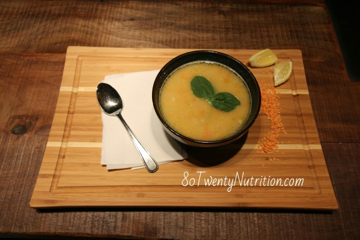 Best Ever Lentil Soup with Lemon and Basil Leaves - vegan gluten free vegetarian quick and easy