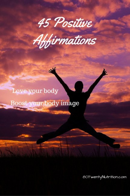 Positive Affirmations to Improve Your Body Image - love your body - Christy Brissette media dietitian nutritionist Toronto Los Angeles 80 Twenty Nutrition