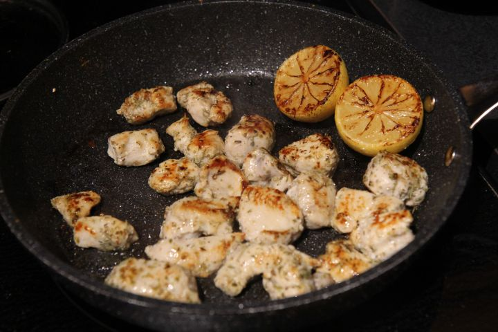 Chicken Souvlaki with Greek Quinoa Salad, Caramelized Lemons and Tzatziki - Christy Brissette registered dietitian nutritionist - 80 Twenty Nutrition