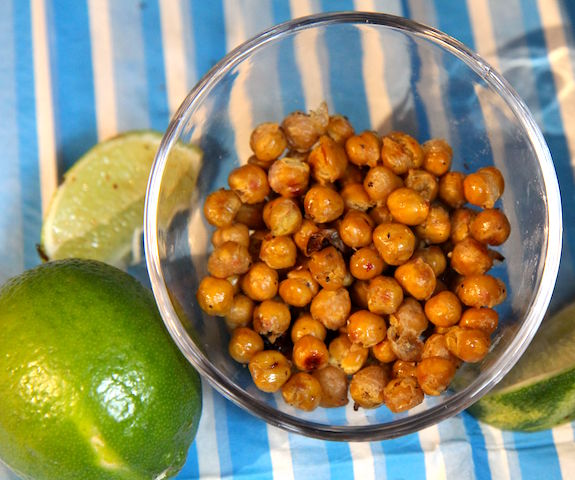 Coconut lime roasted chickpeas vegan and gluten free healthy snacking! Christy Brissette media registered dietitian nutritionist - 80 Twenty Nutrition