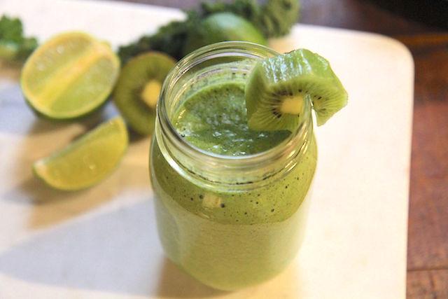 Kiwi Lime Green Smoothie - vegan and paleo - pegan - recipe by Christy Brissette media registered dietitian nutritionist - 80 Twenty Nutrition
