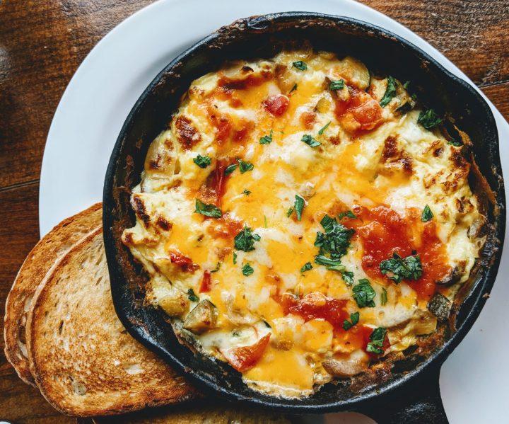 Mexican Breakfast Burrito Egg Bake - Make Ahead, Gluten Free and Vegetarian - recipe by Christy Brissette media registered dietitian 80 Twenty Nutrition