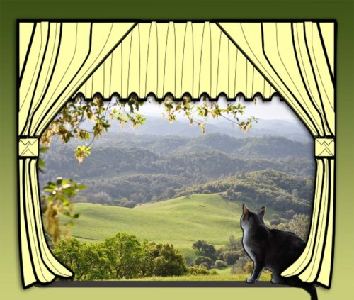 Caturday Art: Beautiful Vistas