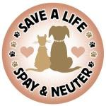 Save a life graphic - spay or neuter