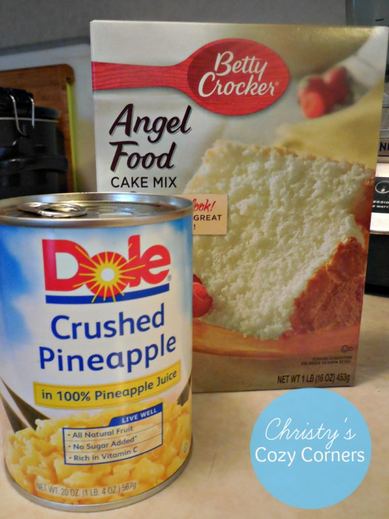 Pineapple And Angel Crushed Food Mix Cake