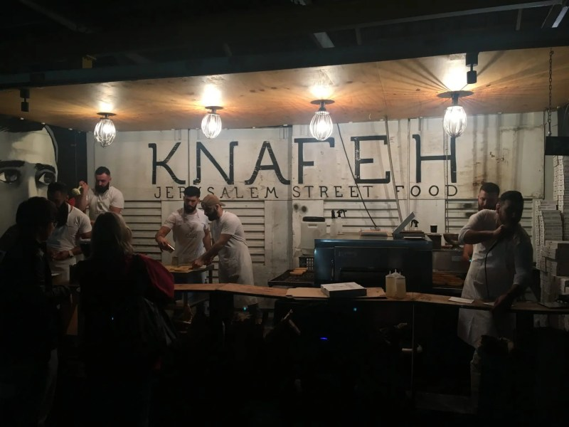 Making Knefah street food in Sydney