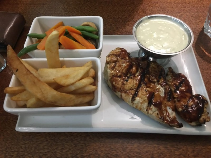 Char grilled chicken from the Lions Pride Dubbo