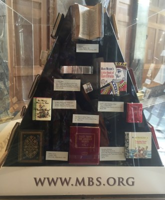 Miniature Book Society Traveling Exhibit at Wesleyan