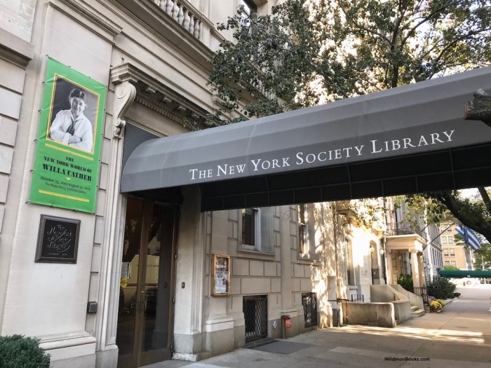 Willa Cather Exhibit at The New York Society Library (WildmooBooks.com)