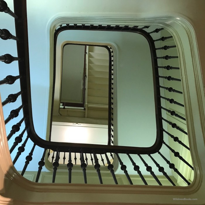 Stairwell at The New York Society (WildmooBooks.com)