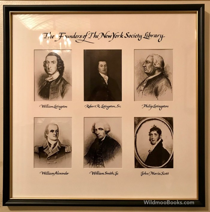 Founders of The New York Society Library 1754 (WildmooBooks.com)