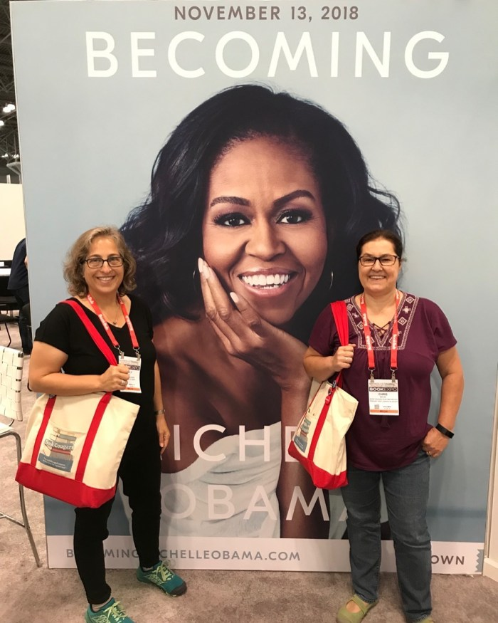 """The Book Cougars """"with"""" Michelle Obama at BookExpo on WildmooBooks"""