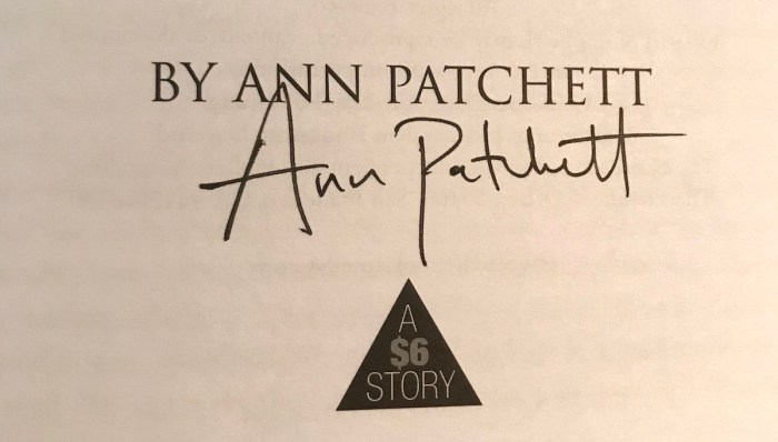 Ann Patchett Signature