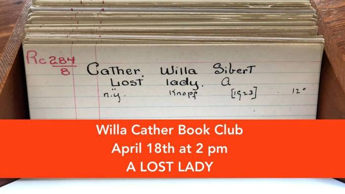 A Lost Lady - Willa Cather Book Club