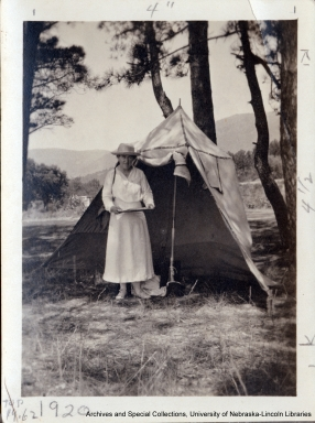 Photo of Willa Cather in France