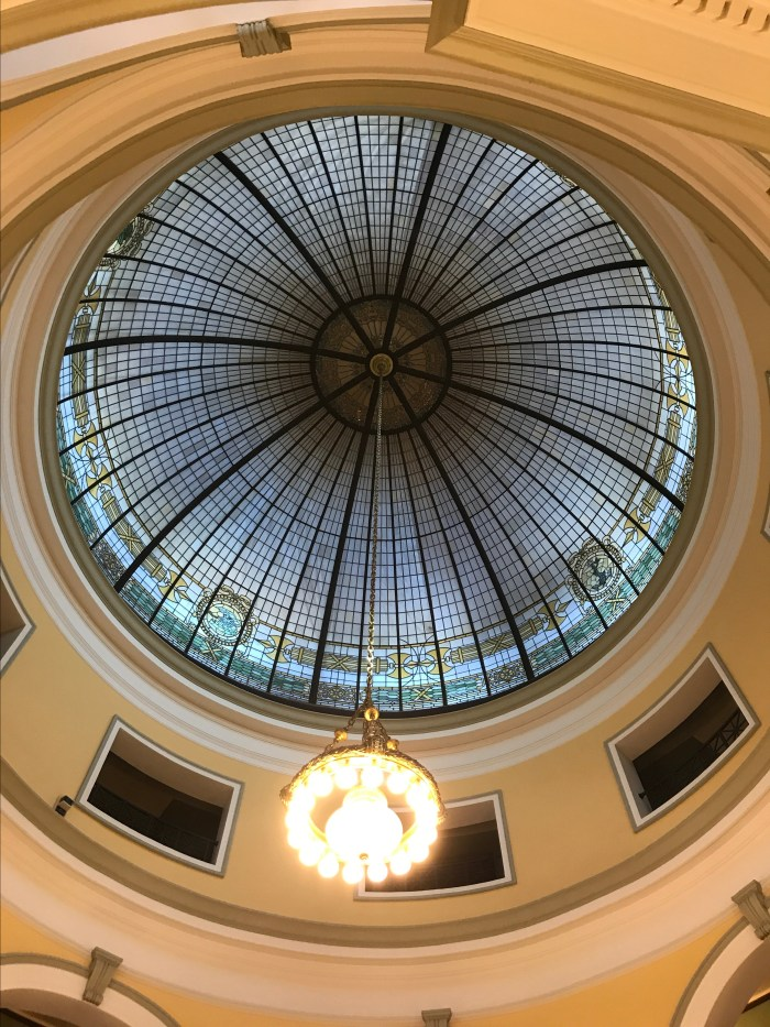 The Handley Library photograph of the dome interior