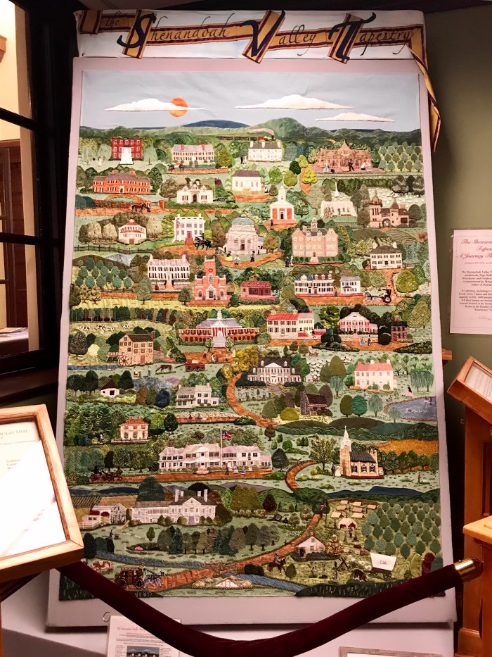 The Shenandoah Valley Tapestry at The Handley Library in Winchester, VA