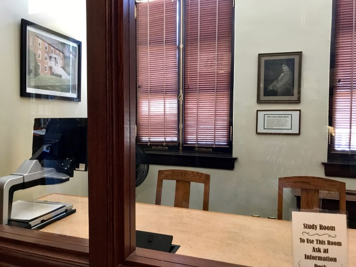 The Willa Cather Study Room at The Handley Library in Winchester, VA