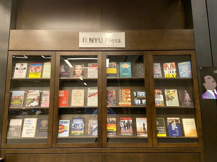 NYU Press Display - NYU Elmer Holmes Bobst Library  (chriswolak.com)