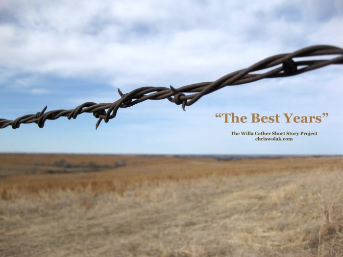 Barbed wire at the Willa Cather Memorial Prairie (photo by Chris Wolak)
