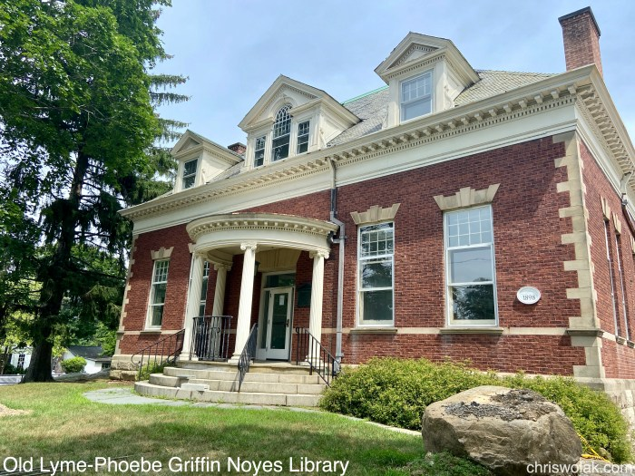 Facade from a slight angle Old Lyme-Phoebe Griffin Noyes Library