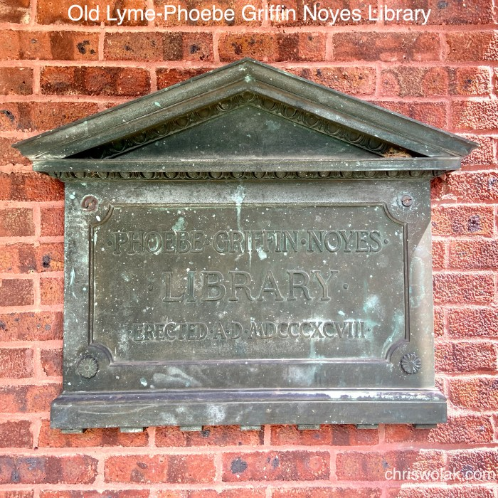 Old Marker Old Lyme-Phoebe Griffin Noyes Library
