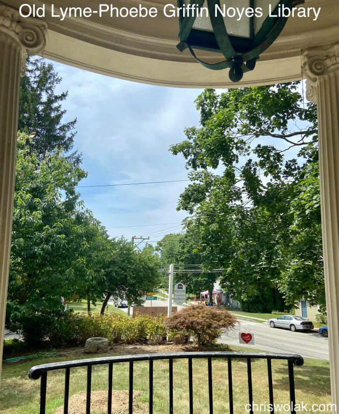 View from the portico Old Lyme-Phoebe Griffin Noyes Library