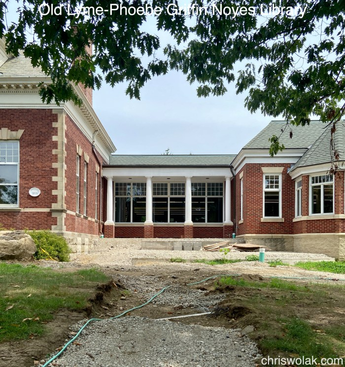 Under construction Old Lyme-Phoebe Griffin Noyes Library