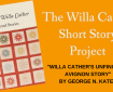 September 2020 Reminder for The Willa Cather Short Story Project