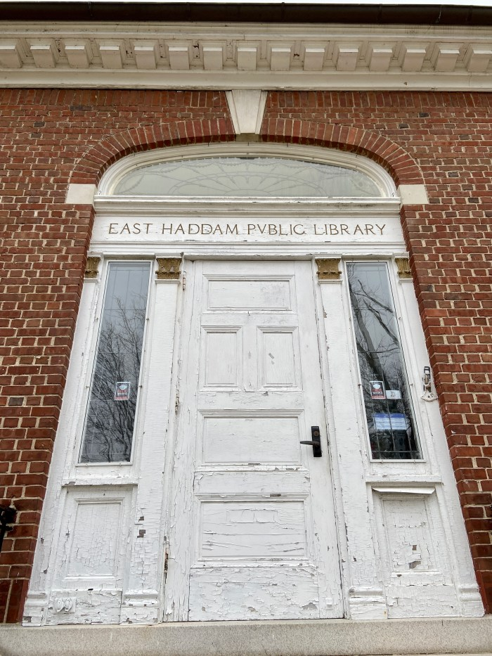 Original Front Entrance - East Haddam Free Public Library