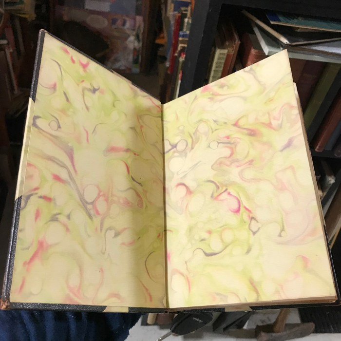 Marbled Book produced by George D. Sproul (Washington Irving, Columbus)