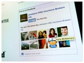 Facebook integration via the sidebar widget connects both potential new customers as well as existing ones — sharing smaller digestible tips via the Facebook page keeps Jamieson-Hilts at the forefront of people's minds when it comes time to buy insurance.