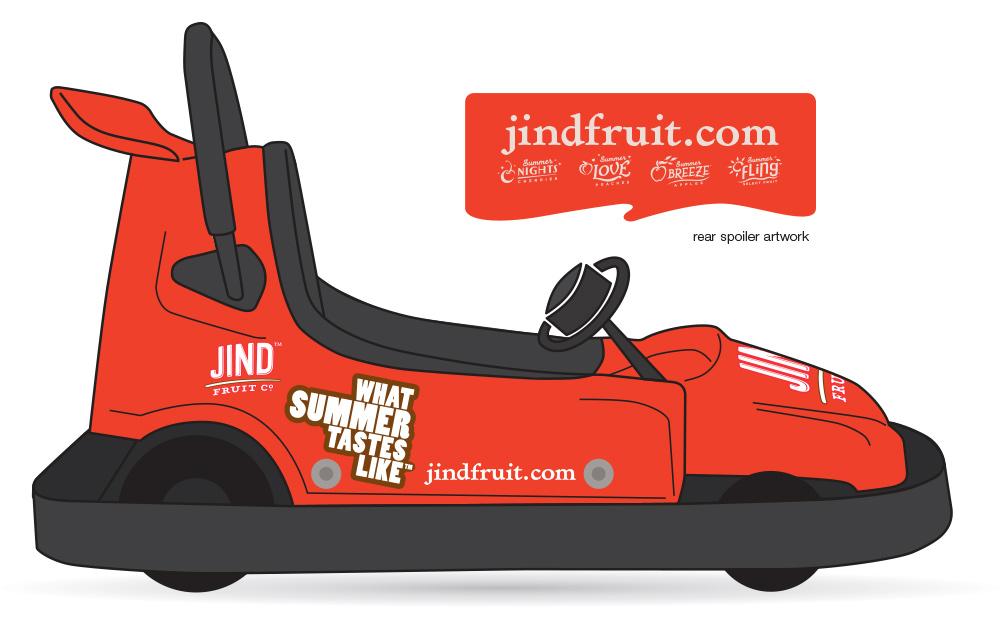 Concept drawing of the Jind Fruit go kart.