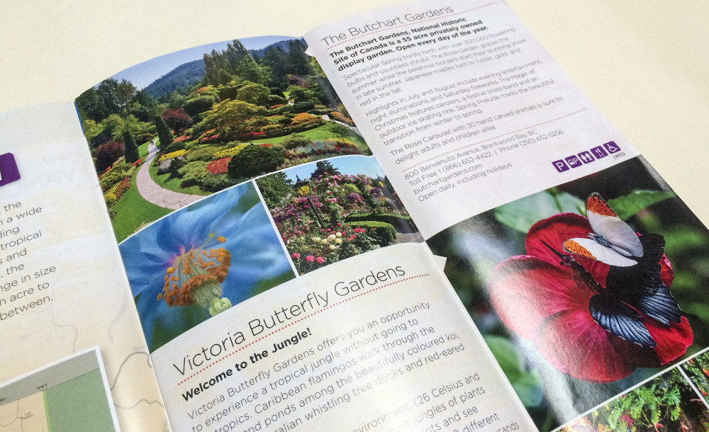 'Follow the Garden Trail' feature layout opening spread.
