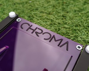 Purple With Black Inlaid Text