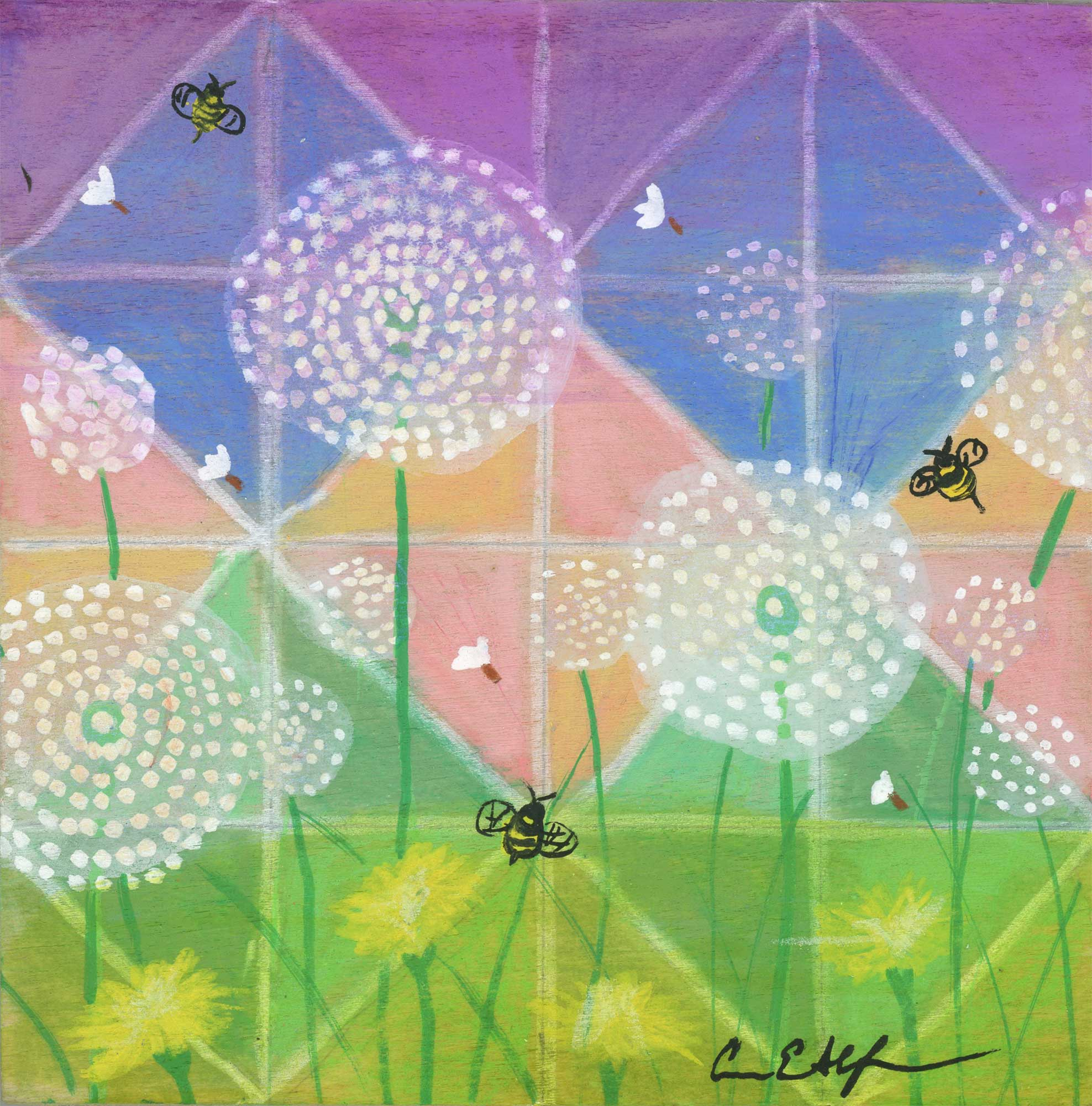 Bees And Dandelions